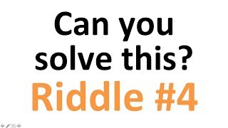 Hardest riddle: can you solve this puzzle? nr. 4