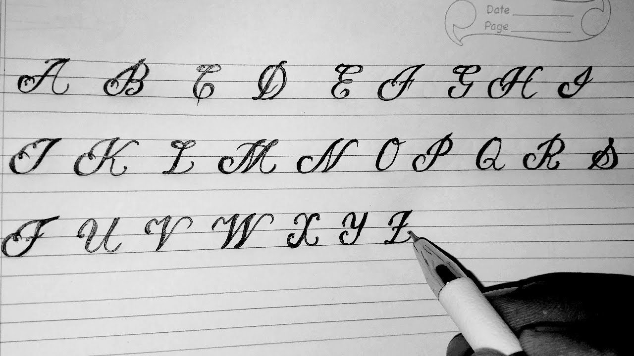Cursive writing A2Z (Capital letter)Learn calligraphy in ...