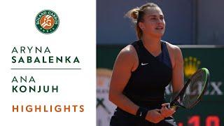 Aryna Sabalenka vs Ana Konjuh - Round 1 Highlights I Roland-Garros 2021