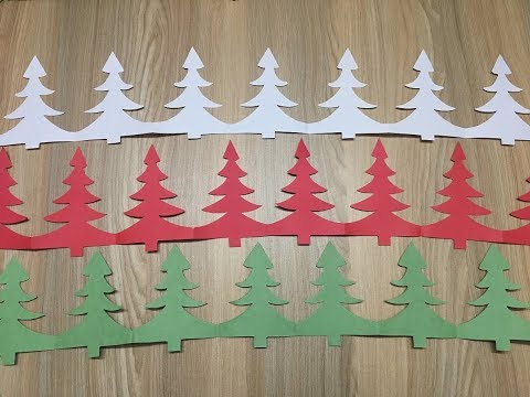 How to make a Christmas tree garland of A4 paper