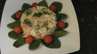 Салат из раковых шеек с креветками Crayfish Tails Salad With Shrimps