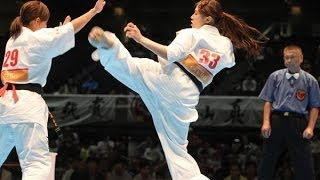 THE 45TH ALL JAPAN OPEN KARATE TOURNAMENT women 3rd round Anna Abe ...