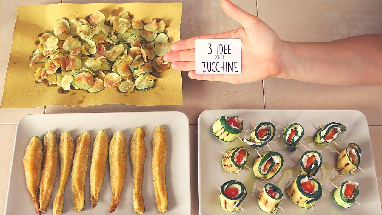 3 Idee con le Zucchine - ricette facili - 3 Easy Zucchini Recipes ...