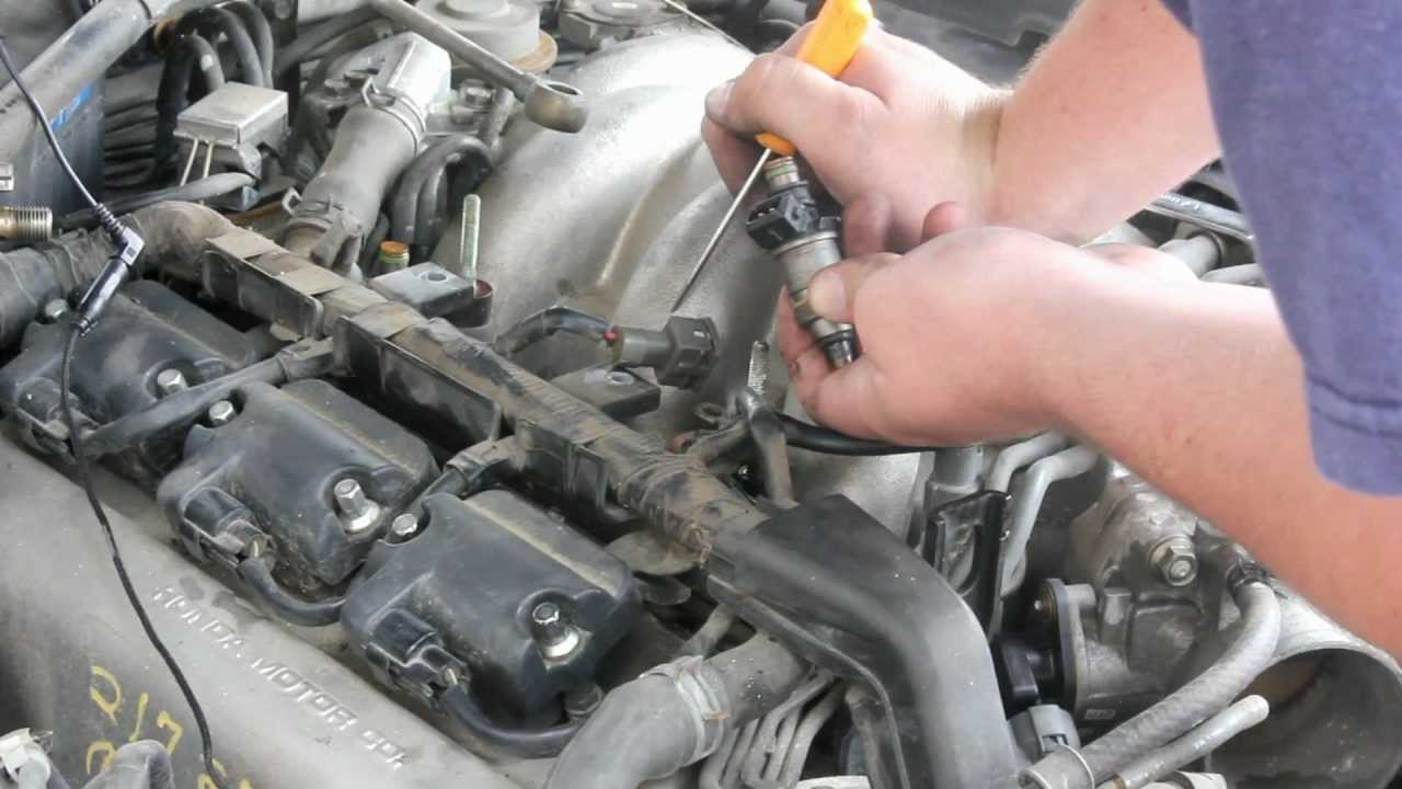 how to remove  u0026 replace fuel injector v6 honda acura
