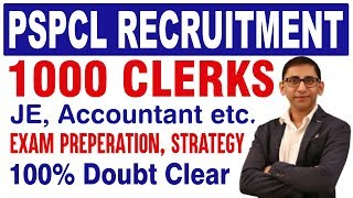 PSPCL Recruitment 2019 - PSPCL Notification for 1000 Clerks - PSPCL Exam Pattern, Syllabus,Strategy