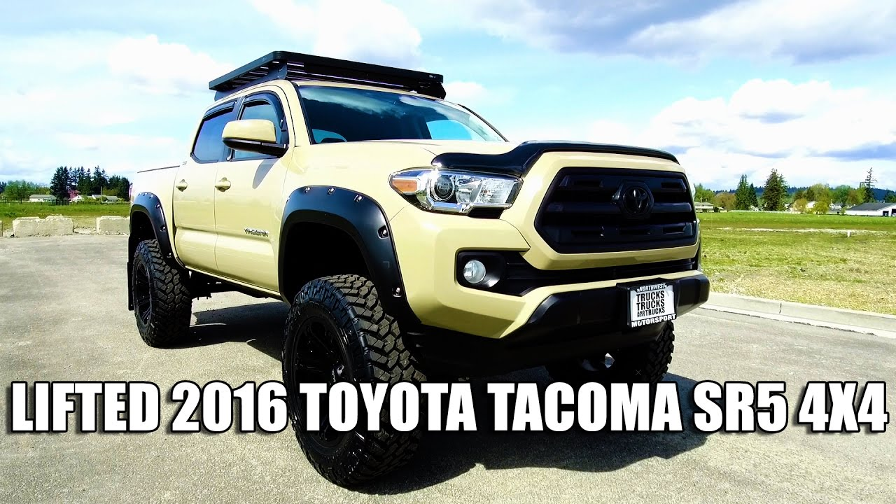 Lifted 2016 Toyota Tacoma Sr5 4x4 Youtube Pimped Red Jeep Rubicon