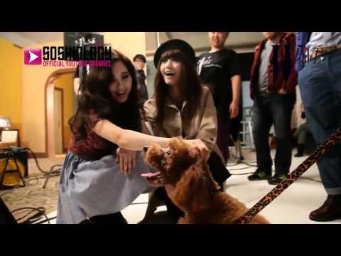 SSGSubs120124 Yoona & Seohyun with Kai's Dog