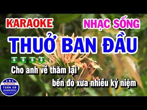Karaoke Thuở Ban Đầu | Nhạc Sống Tone Nam | Karaoke Tuấn Cò