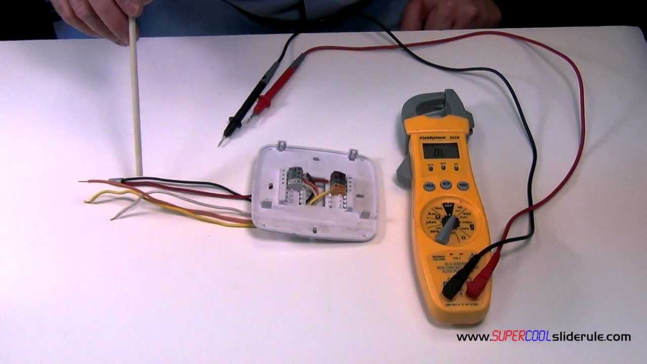 How to Identify Broken Wires on a Thermostat - YouTube