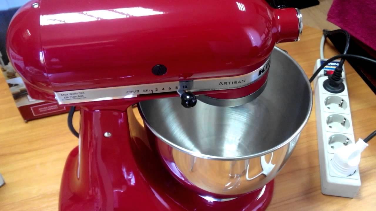 Red Kitchen Aid Mixer Lowes Tile Kitchenaid Artisan Empire Youtube