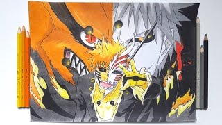 DRAWING HOLLOW ICHIGO X NARUTO SAGE OF SIX PATHS (Requested)