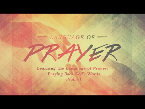 Learning the Language of Prayer:Praying Back God's Words : 7.3.2016