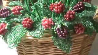 цветочные композиции из бисера Бисерные цветы французское бисероплетение Beaded flowers