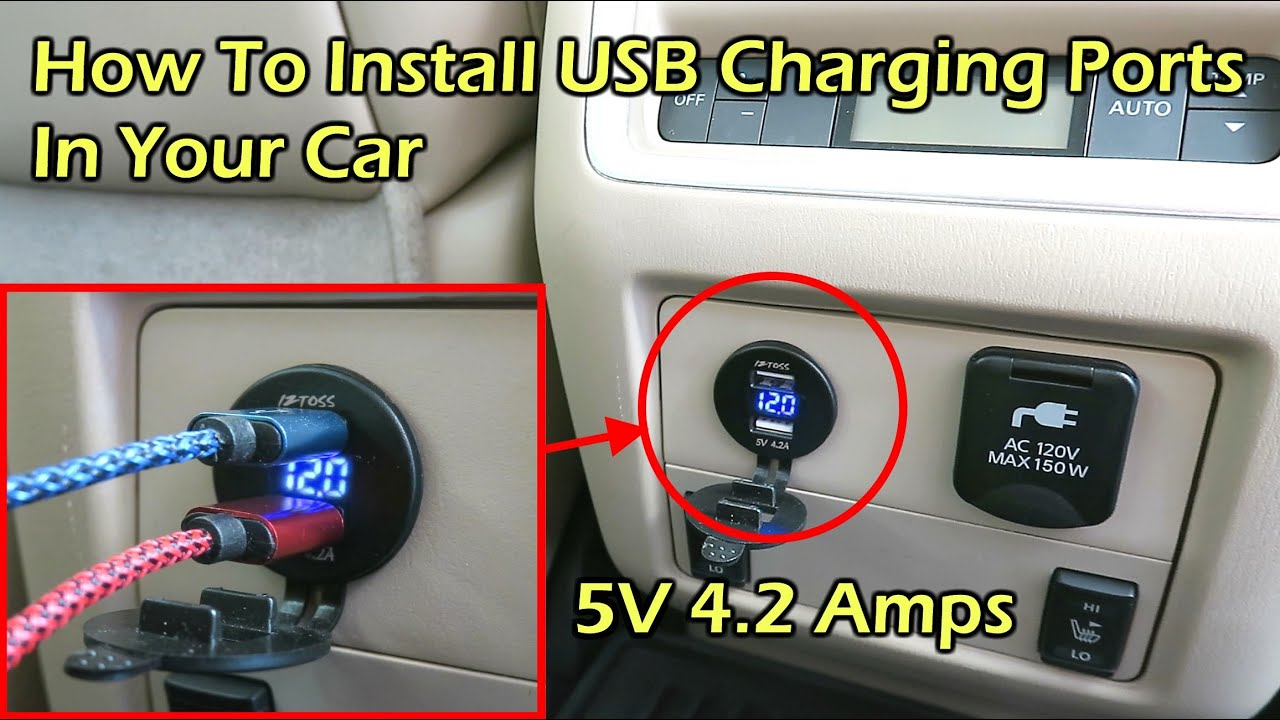 How To Install Usb Charger Voltmeter In Car Nissan Pathfinder Motor