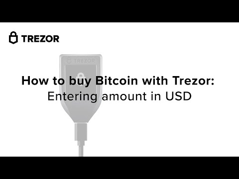 How To Buy Bitcoin With Trezor: Entering Amount In USD