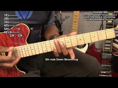 UNCHAINED Van Halen STANDARD TUNING Guitar Lesson 2 EricBlackmonMusicHD YouTube