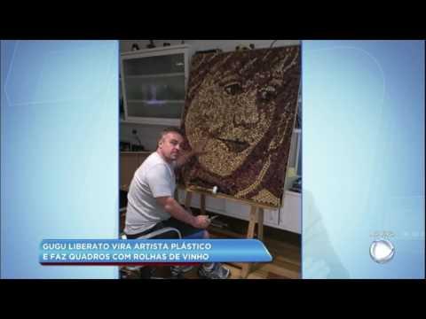 Hora da Venenosa: veja os quadros de Gugu Liberato feitos com rolhas de vinho