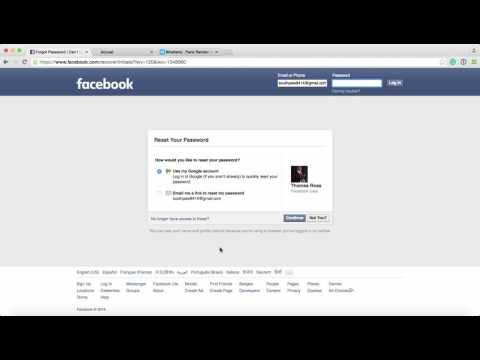Lost Facebook Password recovery in May 2016