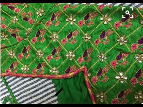 Kutch Work Designer Blouses Embroidery Work Youtube