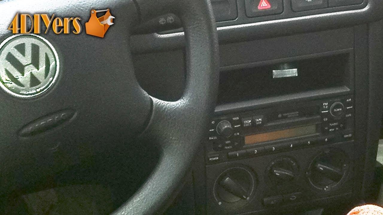 Vw Mk4 Radio Wiring Diagram Ready Remote Vehicle Diy Volkswagen Mkiv Stereo Removal Youtube