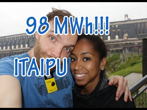 Over 98 MEGAWATT - The biggest hydropower plant in the world Itaipu, Brazil/Paraguay