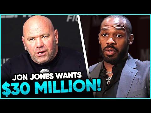 Dana White reveals Jon Jones wants $30 MILLION DOLLARS to fight Francis Ngannou, Colby Covington