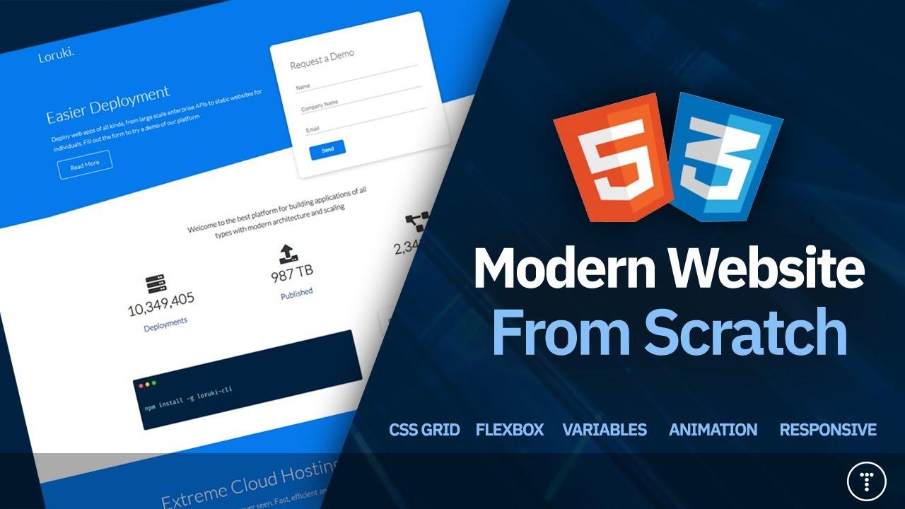 Build a Responsive Website | HTML, CSS Grid, Flexbox & More