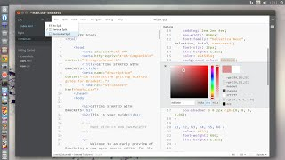 Brackets code editor for web designers - new Split View feature