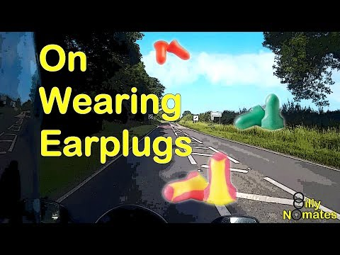 On Wearing Earplugs riding Evie the SV650S
