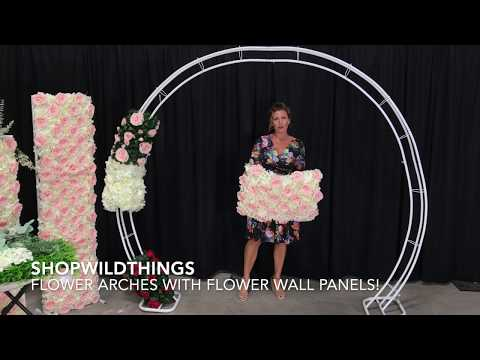 ShopWildThings How To Decorate A Floral Arch With Flower Wall Panels