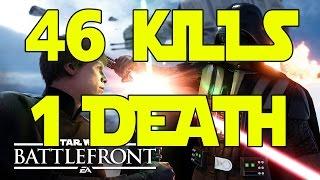 46 KILLS 1 DEATH (Star Wars Battlefront Multiplayer Gameplay)