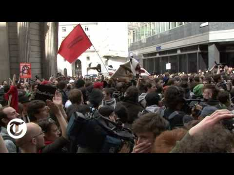 G20 rioters storm RBS - Telegraph TV exclusive