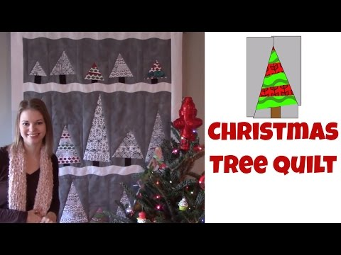 Easy Christmas Tree Quilt - Beginner Quilting Tutorial with Leah Day