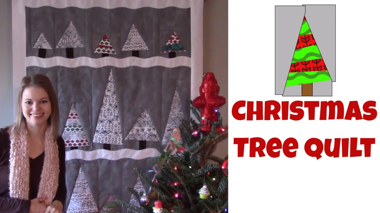 easy christmas tree quilt beginner quilting tutorial with leah day youtube