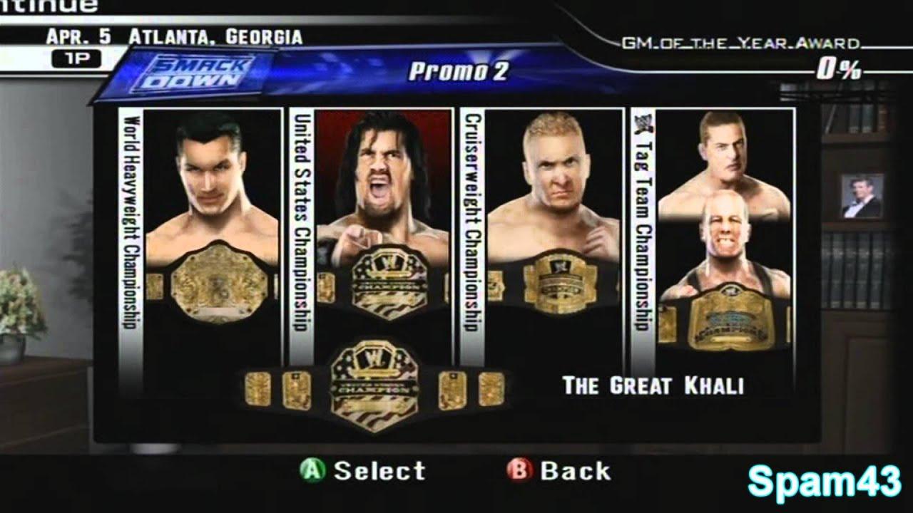 SvR2008 General Manager Mode Week 1 - John Cena? I don't ...