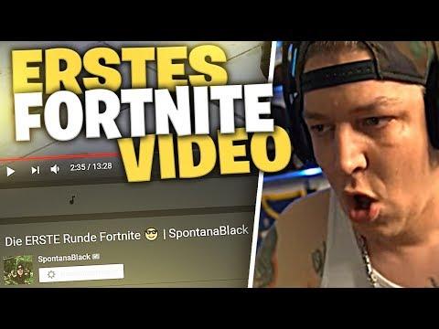 Reaktion auf mein Erstes Fortnite Video | SpontanaBlack