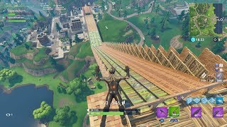 BUILDING AN ENORMOUS ROLLER COASTER IN PLAYGROUND LTM! | Fortnite