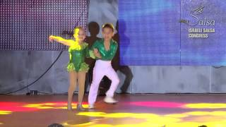 Israeli Salsa Congress 2014 Kevin & Beverly World champions aged 6 & 7