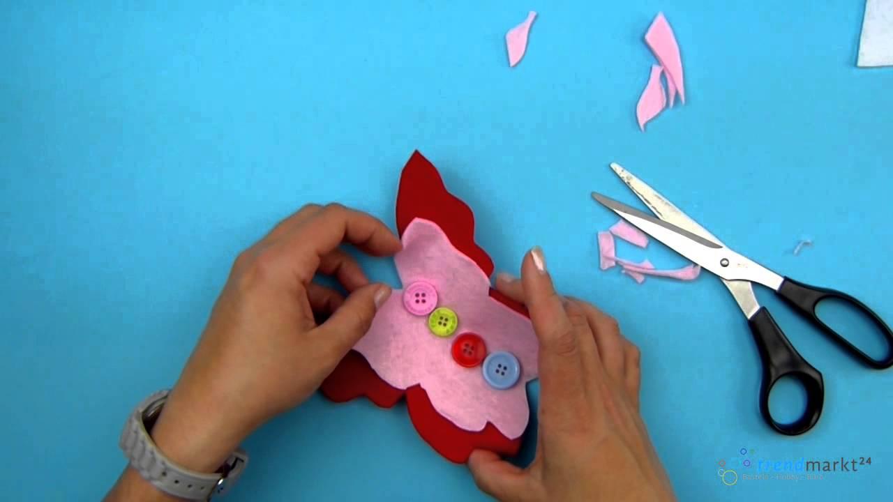 Basteln Mit Kindern Tollen Schmetterling Basteln Youtube