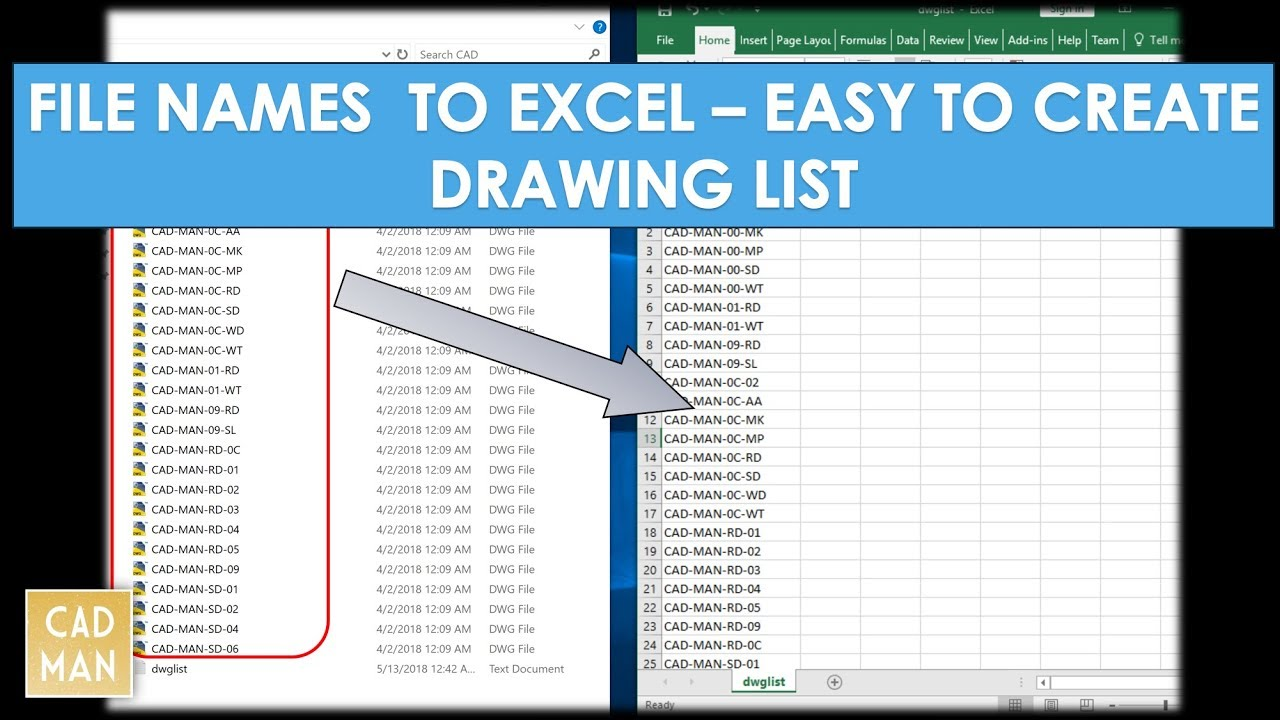Excel Cad Drawing