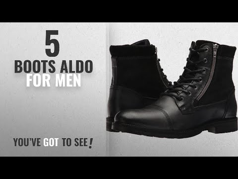 Top 10 Boots Aldo [ Winter 2018 ]: Aldo Men's Lucio Ankle Boot, Black Leather, 9 D US