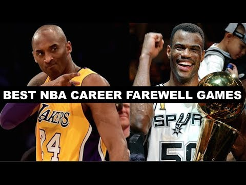 The 10 Best Career Farewell Games In NBA History