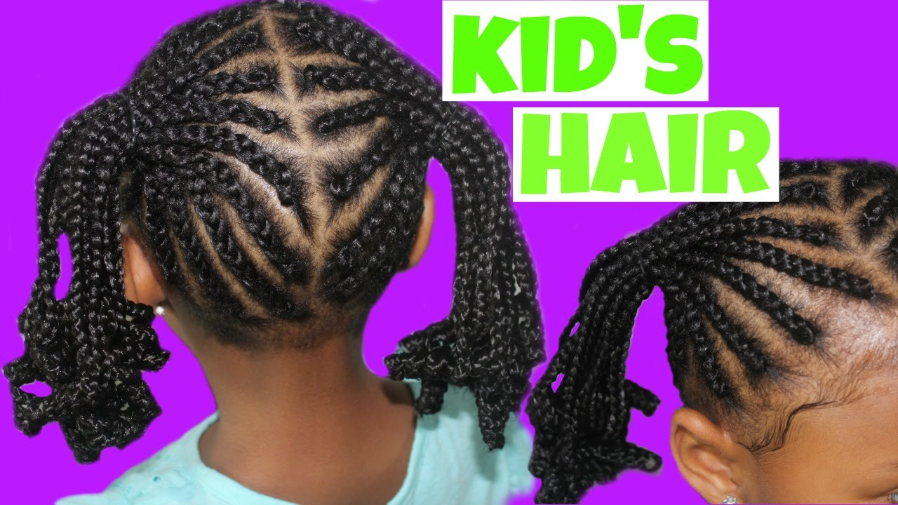 Cornrows and Ponytails | Child Natural Hair - YouTube