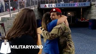 Watch the cutest reactions to military dads coming home | Militarykind