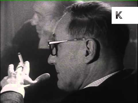 1960s William Burroughs at London Beatnik Poetry Reading, Archive Footage