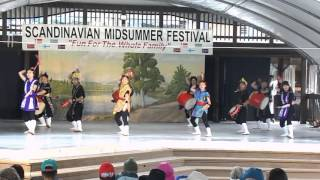 Performance by the Vancouver Okinawa Taiko for the Scandinavian Mid...
