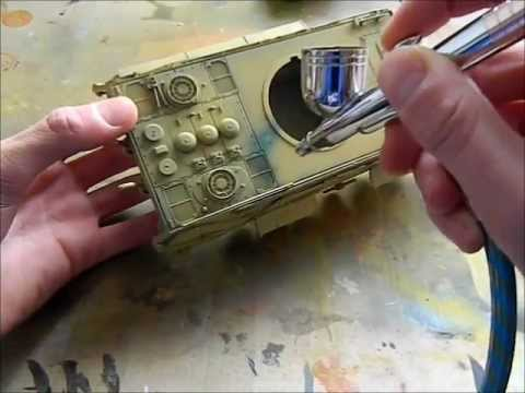 How to paint and weather a tank model/Tumpeter 1/35 E-50