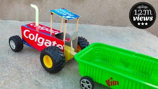 How To Make Colgate Box Tractor Electric Tractor 🚜