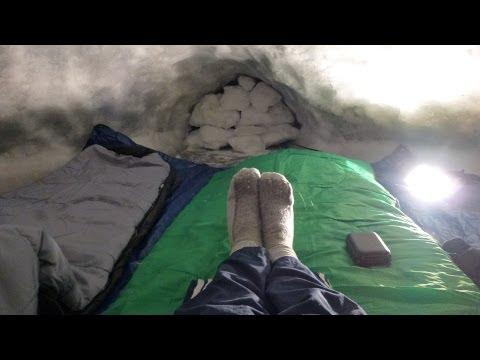Sleeping In My Huge Ice Igloo