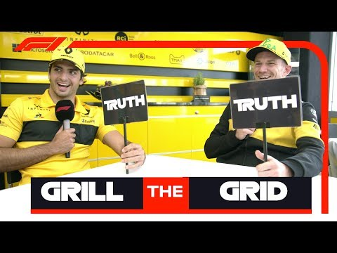 Renault's Carlos Sainz and Nico Hulkenberg | Grill The Grid Truth Or Lie